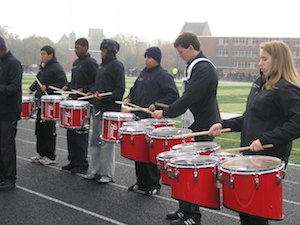 Brian teaching the Somerville High School Drum Line
